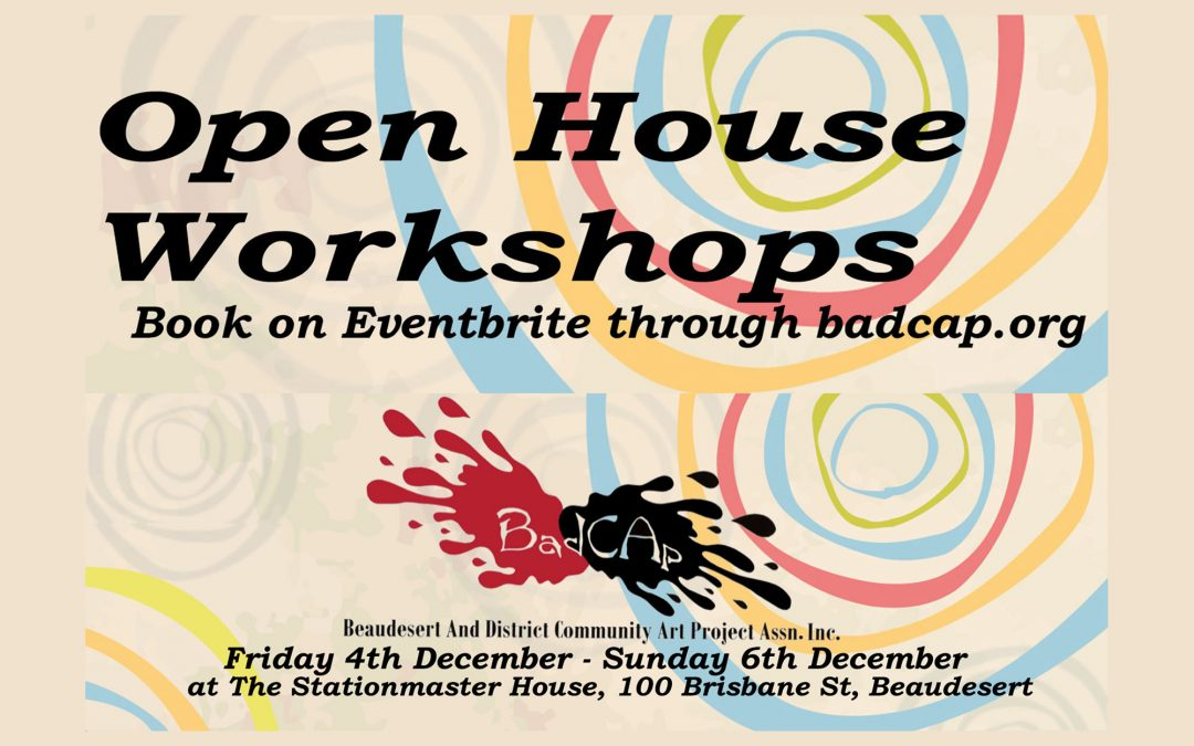 Join in the celebration of BADCAP's First Anniversary at their Open House weekend in December